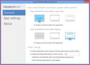 ModernMix. Программа, позволяющая запускать приложения Modern UI в оконном режиме