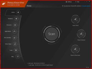 Privacy Eraser — оригинальная программа для удаления временных файлов