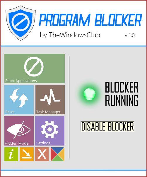 Program Blocker заблокирует запуск любой программы в Windows 7 и 8