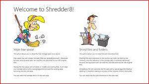 Shredder8 - программа для безвозвратного и надежного удаления файлов.